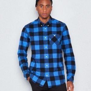 WeSC Olavi l/s shirt bright blue