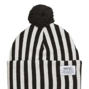 WeSC Puncho Pom Striped Beanie