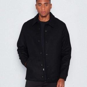 WeSC Robby wool coat black