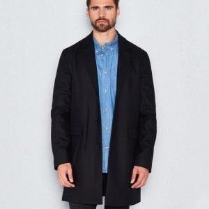 WeSC Rock wool coat black
