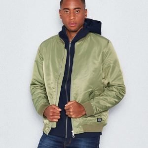 WeSC Rush padded jacket deep lichen green