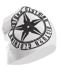 White / Anthracite Logo Beanie