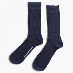 White Mountaineering Cable Woven Socks