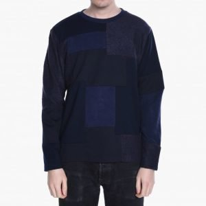 White Mountaineering Knitted Patchwork Long Sleeve Tee
