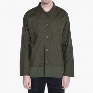 White Mountaineering Woven Military Shirt Jacket