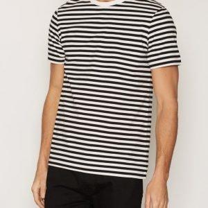 Whyred Art Stripe Shirt T-paita Offwhite