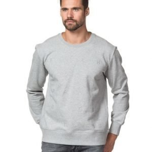 Whyred Murray Robots Sweat 030 Grey Melange