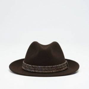 Wigéns Fedora Classic Hat 049 Brown