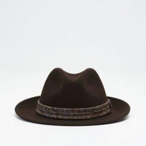 Wigéns Fedora Classic Hat 049 Brown
