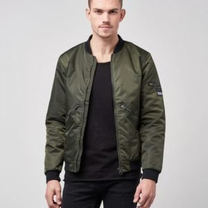 William Baxter Dan Bomber Jacket Dark Green