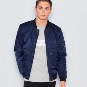 William Baxter Dan Bomber Jacket Navy