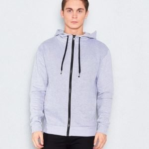 William Baxter Gibson Zip Sweater Grey Melange