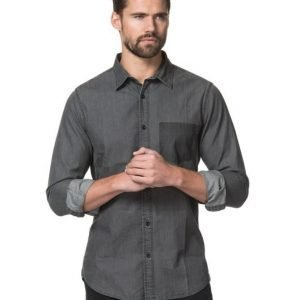 William Baxter James Twill Shirt Dark Grey