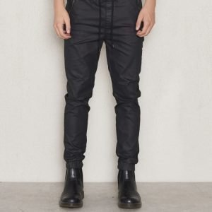 William Baxter Mike Coated Joggers Black