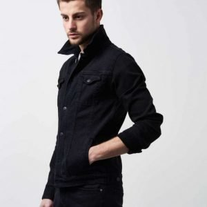 William Baxter Neil Denim Jacket Black Washed