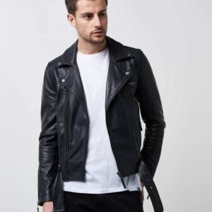William Baxter Stevie Leather Jacket Black