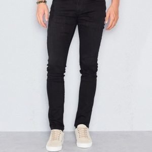 William Baxter Ted Slim Fit Black Destroyed