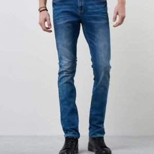 William Baxter Ted Slim Fit Mid Blue Wash