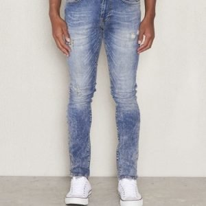 William Baxter Ted Slim Fit Ripped Mid Blue