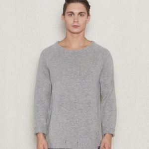William Baxter Teddy Knitted Sweater Light Grey Melange
