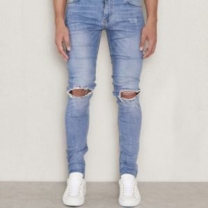 William Baxter Tim Superslim Ripped Washed Blue