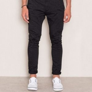William Baxter Zack Cropped Chino Black Printed
