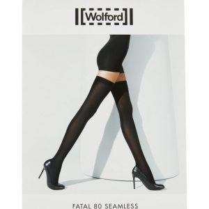 Wolford Fatal 80 Den Seamless Stay Up Sukat