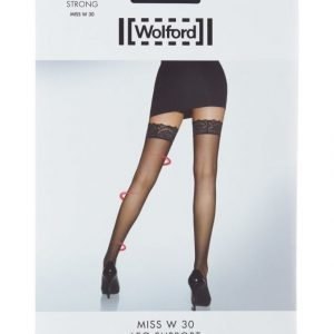 Wolford Miss W 30 Den Leg Support Stay Up Sukat