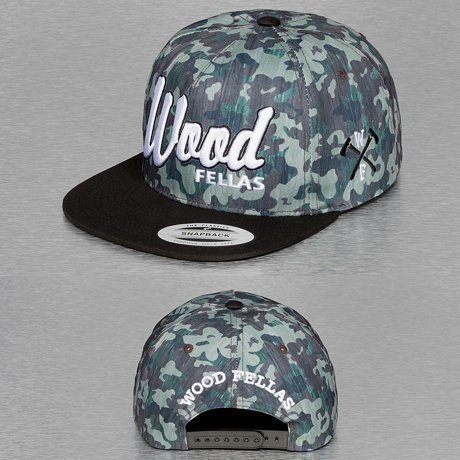 Wood Fellas Snapback Lippis Camouflage