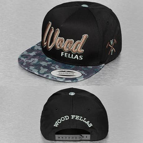 Wood Fellas Snapback Lippis Musta