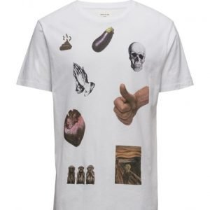 Wood Wood Emoji T-Shirt lyhythihainen t-paita