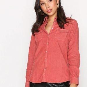 Wrangler L / S Corduroy Shirt Kauluspaita Rose