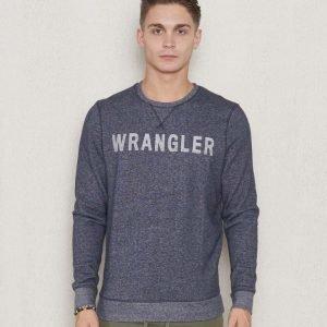 Wrangler Logo Crew Sweat Navy