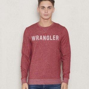 Wrangler Logo Crew Sweat Red