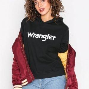 Wrangler Logo Hoodie Black Huppari Black