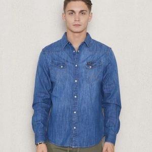 Wrangler Western Denim Shirt Indigo