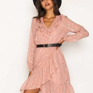 Y.A.S Yasdotella Ls Dress Mekko Vaaleanpunainen