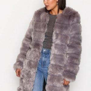 Y.A.S Yasfaux Fake Fur Jacket Tekoturkki Harmaa