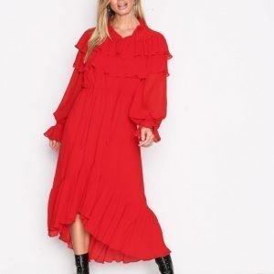 Y.A.S Yasgaho L / S Dress Pitkähihainen Mekko Tummanpunainen