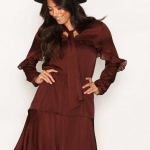 Y.A.S Yashai Dress Loose Fit Mekko Tummanvioletti