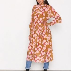 Y.A.S Yashazel L / S Size Dress Loose Fit Mekko Mörkorange