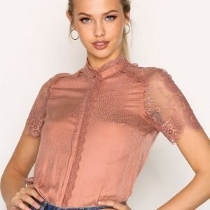 Y.A.S Yastampa Ss Shirt Pusero Vaaleanpunainen