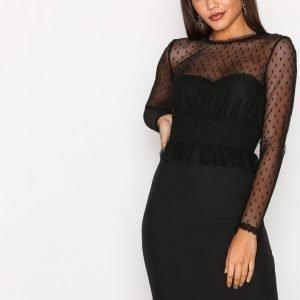 Y.A.S Yasvoya Ls Dress Kotelomekko Musta