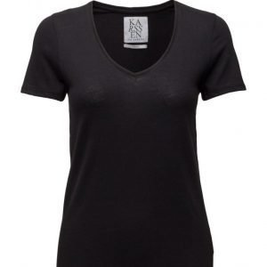 Zoe Karssen Loose Fit Low V-Neck Tee