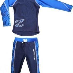 Zunblock UV-pusero ja leggingsit LS Snake Tummansin./sininen