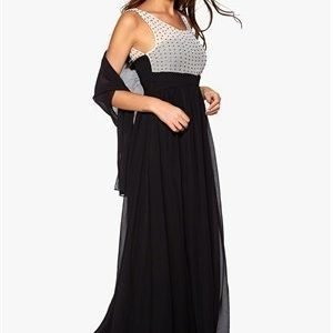 b.young Feather Dress Black