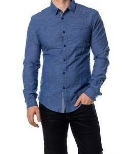 edc by Esprit Chambrey Shirt Blue