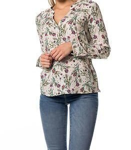 edc by Esprit Flower Blouse White