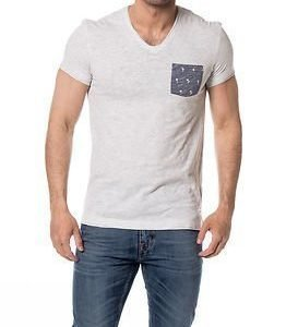 edc by Esprit Pocket Tee V-neck White