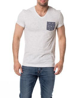 edc by Esprit Pocket Tee V-neck White